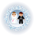 Greeting card with a wedding vector image