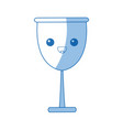 Kawaii glass cup beverage wine glassware vector image