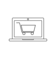 Online shopping linear icon vector image