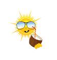 sun drink coconut milk part two vector image