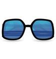 sun glasses with sea reflexion vector image