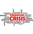 word cloud financial crisis vector image