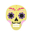sugar skull icon flat cartoon style cute dead vector image