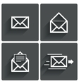 Mail icons Mail delivery sign Letter in envelope vector image vector image