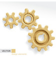 Wooden gears vector image vector image