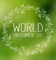 World Environment Day Banner vector image