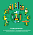 construction worker green composition vector image