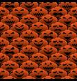 happy halloween emotion pumpkin seamless pattern vector image