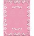 Pink Vintage Background with Floral vector image
