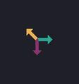road arrow computer symbol vector image