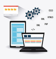 Software design vector image