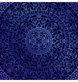 oriental blue background with ornament vector image vector image