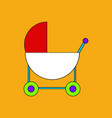 flat icon design collection baby carriage vector image vector image
