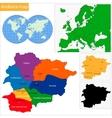 Andorra map vector image