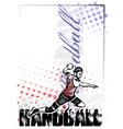 handball poster background vector image vector image