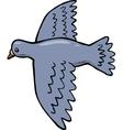 dove in flight vector image vector image