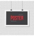 Poster Frame Mockup Realistic EPS10 vector image