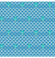 Seamless wave with fish pattern background vector image