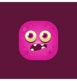 Scared Pink Monster Emoji Icon vector image