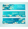 set of seaocean horizontal banners vector image