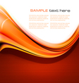 new abstract orange background vector image vector image