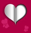 Abstract Valentine card with paper heart vector image