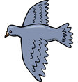 dove in flight vector image