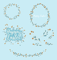 Easter Floral Design Elements vector image