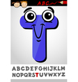 funny letter t cartoon vector image