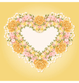 Greeting card with heart shape vector image