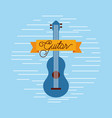 guitar jazz instrument musical festival vector image