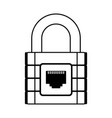 line icon padlock cartoon vector image