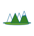 mountains camp isolated icon vector image