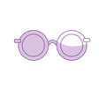 silhouette glasses with fashion style design vector image
