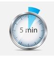 Silver Watch Designation 5 Minutes vector image