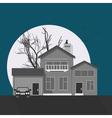 Stylish grayscale house vector image