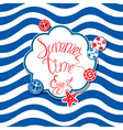 summer card striped 380 vector image