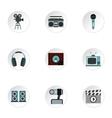 Electronic communication icons set flat style vector image