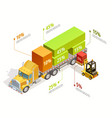 logistic infographic isometric template vector image
