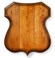 Realistic wooden board vector image vector image