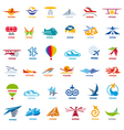 biggest collection of logos flights vector image vector image