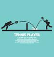 Tennis Player Graphic Symbol vector image