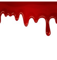 dripping seamless blood vector image vector image