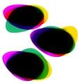 abstract speech bubble set eps 8 vector image