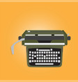 ancient typewriter vector image