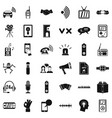 audio equipment icons set simple style vector image