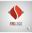 Flame logo template Oil and gas logo Fire vector image