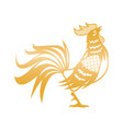 golden rooster for chinese new year celebration vector image