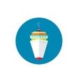 Icon passenger cruise ship vector image