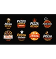 Pizza logo label element Pizzeria restaurant vector image